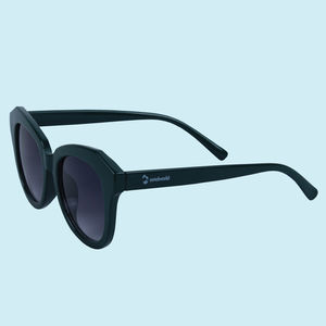 UV Protected Square Unisex Sunglasses, plastic, 16   3   7 cm,  black