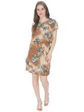 Bella Figura Couture Printed Lycra Dress For Women (BF_ 147A), m, multicolor