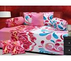 The Divine Heavy Quality Printed 100% Pure Cotton Diwan Set (CottonDS046R), pink