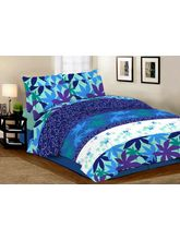 The Divine Floral Cotton Double Bedsheet With 2 Pillow Covers (TDICTNUC011), multicolor