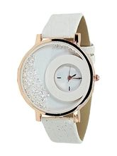 FAP Analog Crystal Inside White Colour Womens Watch