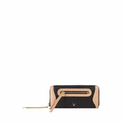 HIDESIGN X KALKI BOSS W1(RFID) WOMEN'S WALLET WAXED SPLIT,  black