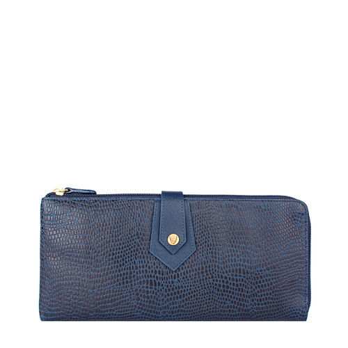 Hong Kongw3 Sb (Rfid) Women s Wallet, Lizard,  midnight blue