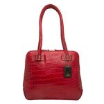 Estelle Small Women s Handbag, Croco,  red
