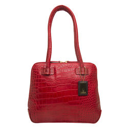 Estelle Small Women's Handbag, Croco,  red