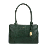 EE BERLIN 02 WOMENS HANDBAG CROCO,  emerald green