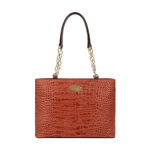 EE MOROCCO 05 WOMENS HANDBAG CROCO,  tan