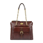 ELIZA 01 SB WOMENS HANDBAG OSTRICH EMBOSS,  brown
