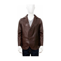 Ralph Men's Jacket Polished Lamb M,  brown, m