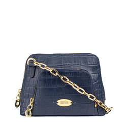 Mb Ginny Sling bag, croco,  midnight blue