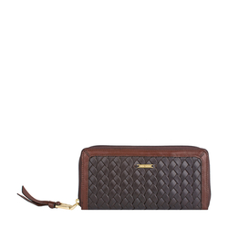 Tanzanite W1(Rfid) Women's Wallet, Woven Ranch,  brown