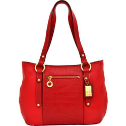 Nakasu 02 Women's Handbag, Melbourne Croco,  red