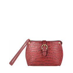 Mercury W1 Sb Women's Wallet, Croco Melbourne Ranch,  red