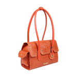 PUNK 02 WOMENS HANDBAG BABY CROCO,  lobster