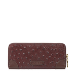 VOODOO W2 RF WOMENS WALLET OSTRICH EMBOSSED,  brown