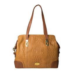 Harajuku 01 Handbag, baby croco,  tan