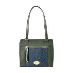 Libra 01 Sb Women's Handbag, Melbourne Ranch Snake,  emerald