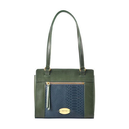 Libra 01 Sb Women s Handbag, Melbourne Ranch Snake,  emerald
