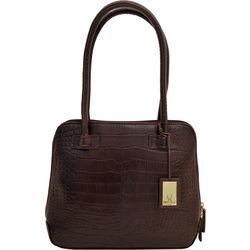 Estelle Small Women's Handbag, Croco,  brown