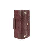 VOODOO W1 RF WOMENS WALLET OSTRICH EMBOSSED,  brown
