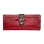 Sb Atria W1 Women s Wallet, Cement Croco Ranchero Lamb,  red