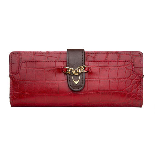 Sb Atria W1 Women s Wallet, Cement Croco Ranchero Lamb,  red