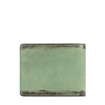 296-017 RF MENS WALLET CAMEL,  emerald green