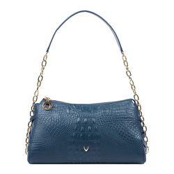 CHARLESTON 03 WOMEN'S HANDBAG BABY CROCO,  midnight blue