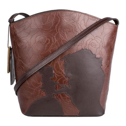 Rose 03 Women s Handbag, Rose Emboss Mel Ranch Split,  brown