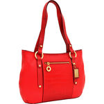 Nakasu 02 Women s Handbag, Melbourne Croco,  red