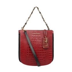 AFFAIR 02 WOMENS HANDBAG BABY CROCO,  marsala