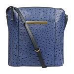 Maple 01 Sb Women s Handbag Ostrich Embossed Melbourne Ranch,  midnight blue