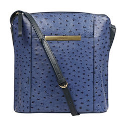 Maple 01 Sb Women's Handbag Ostrich Embossed Melbourne Ranch,  midnight blue