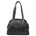 Harajuku 02 Handbag,  black, baby croco