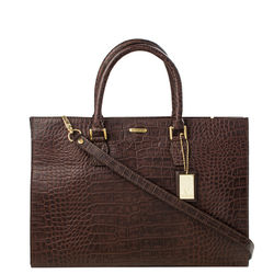 Kester Satchel, croco,  brown