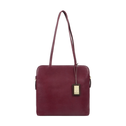 KIRSTY WOMENS HANDBAG RANCH,  aubergine