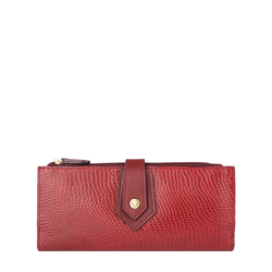 Hong Kong W1 Sb (Rfid) Women's Wallet, Lizard Melbourne Ranch,  marsala