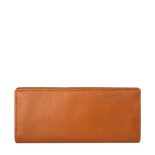 Chestnut W3 (Rfid) Women s Wallet, E. I. Sheep Veg,  tan