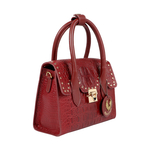 PUNK 01 WOMENS HANDBAG BABY CROCO,  marsala
