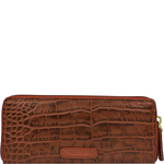 Claea W2 Women s Wallet, Cement Croco Lamb,  red, croco