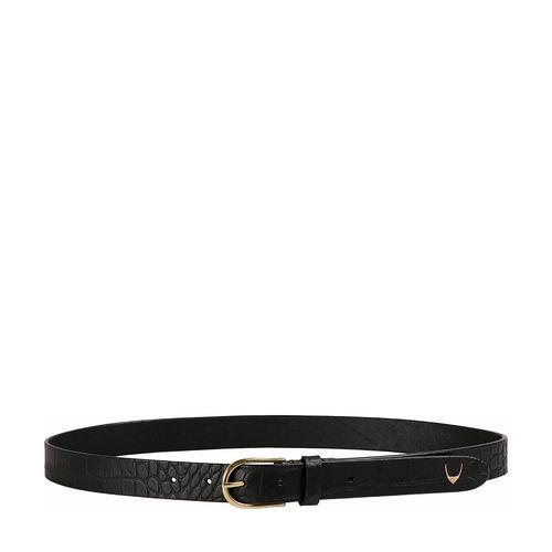 Ee Monica Women s Belt Glazed Croco Printed, 36 38,  black