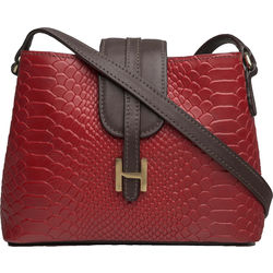 EE SILVIA 03 WOMEN'S HANDBAG SNAKE,  red