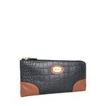 Saturn W3 Sb (Rfid) Women s Wallet, Croco Melbourne Ranch,  black