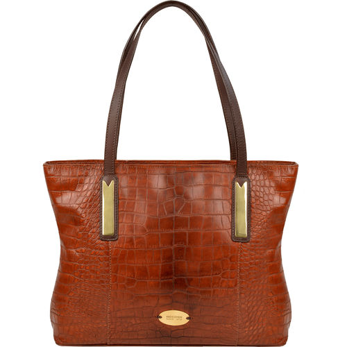 Claea 02 Handbag, croco,  tan