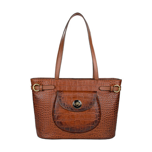 D Croco 03 Women s Handbag, Croco Melbourne Ranch,  tan