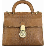 Oxfordstreet 01 Women s Handbag, Baby Croco,  tan