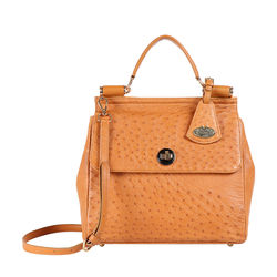 Sezanne Women's Handbag Ostrich,  tan