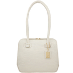 Estelle Small Women s Handbag, Croco,  white