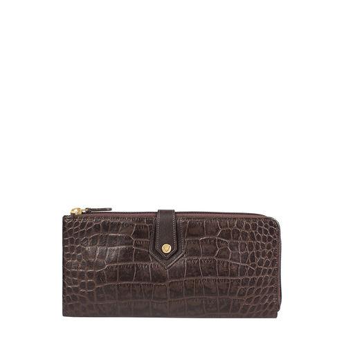 Hongkong W3 Sb (Rfid) Women s Wallet Croco,  brown