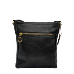 LUCIA 03 WOMENS CROSSBODY COW DEER,  black
